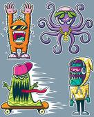 Graffiti Monsters — Stock Vector