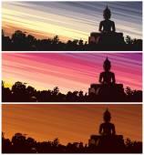 Crepúsculo de Buda — Vetor de Stock