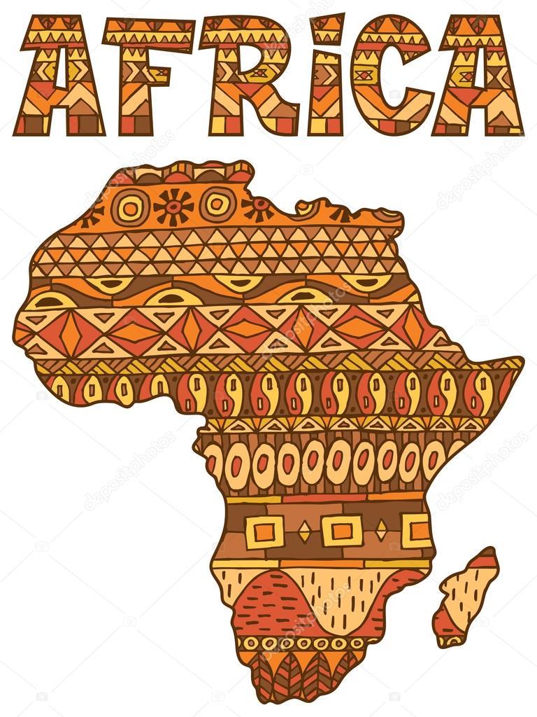 Modèle de carte d'Afrique — Image vectorielle Malchev © #95337672