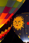 Hot Air Balloon Night Glow — Stock Photo