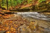 Waterfall In Autumn — Fotografia Stock