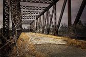 Old Abandoned Railroad Bridge — Stock Photo