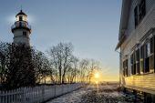 Marblehead Lighthouse Sunrise — Stock Photo