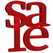 Three-dimensional inscription Sale — Stock Photo