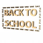 Three-dimensional inscription Back to scool — Stock Photo