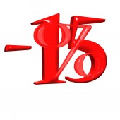 Inscription 15 percent off — 图库照片