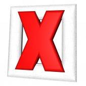 Red cross mark 3D — Stock Photo