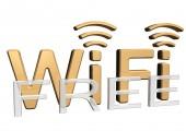 Sign of a free wireless communication — 图库照片