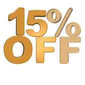 Inscription 15 percent off — Stock Photo