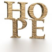 Three-dimensional word hope — Stock Photo