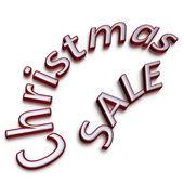 Three-dimensional inscription Christmas Sale — Stock Photo