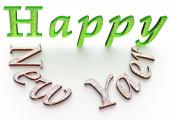 3d text Happy new year — Stock Photo