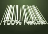 100 percent Natural barcodes — Stock Photo