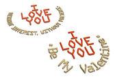Three-dimensional inscription I LOVE YOU — Stock Photo