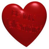 Inscription Be My Valentine — Stockfoto