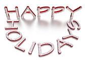 Three-dimensional inscription Happy Holidays — Stock Photo