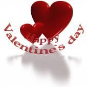 Glad Alla hjärtans dag text klippt från hjärtat. — Stockfoto