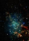 Star field in space and a nebulae — Stock Photo