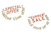 Three-dimensional inscription Discount as a label — Stock Photo