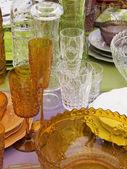 Beautiful melamine colorerd glasses — Fotografia Stock