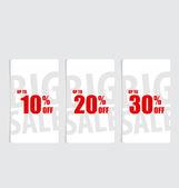 Price tag, sale coupon, voucher. Vintage Style template Design v — Stok Vektör
