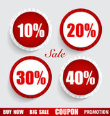 Sale Coupon, voucher, tag, sticker. Modern Style template Design — Vettoriale Stock