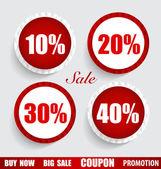 Sale Coupon, voucher, tag, sticker. Modern Style template Design — Stok Vektör