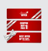 End of year sale savings labels set. Modern Style template Desig — Stock Vector