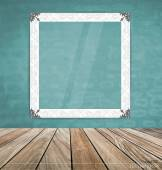 Vintage frame on brick wall, vector illustration. — Stock Vector