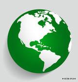 Modern green globe. Vector illustration. — Stock Vector