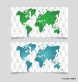 Card with world map. Vector illustration. — Stockvektor