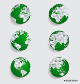 Modern globe. Vector illustration. — Stock Vector