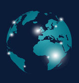 Modern globe design, vector illustration. — Stock Vector