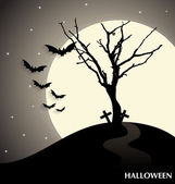 Halloween background. Vector illustration. — Stock Vector