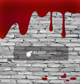 Blood dripping, blood background. Vector illustration. — Stock Vector