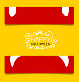 Banner felice disegno di halloween. illustrazione vettoriale. — Vettoriale Stock