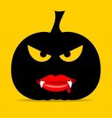 Felice halloween disegno sullo sfondo con zucca di halloween. vector — Vettoriale Stock
