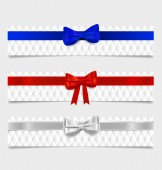 Card note with gift bows. Vector illustration. — Stock Vector