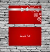 Gift Cards with gift bows and ribbons. Vector illustration. — Stockvektor