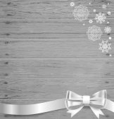 Christmas background with gift bows and ribbons. Vector illustra — Stockvektor