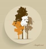 Tree silhouettes. Vector illustration. — Vettoriale Stock