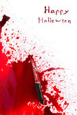 Halloween concept : Bloody knife with blood splatter — Foto Stock