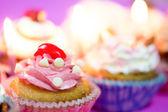 Urodziny cupcakes — Zdjęcie stockowe
