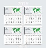 Simple 2015 year calendar (May, June, July, August). Vector illu — 图库矢量图片