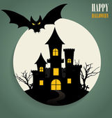 Happy Halloween design background. Vector illustration. — Stock Vector