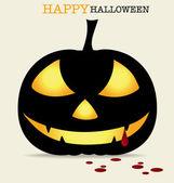 Happy Halloween design background with Halloween pumpkin. Vector — Stock Vector