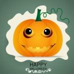 Happy Halloween design background with Halloween pumpkin. Vector — Stock Vector #56852937
