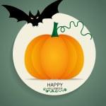 Happy Halloween design background with Halloween pumpkin. Vector — Stock Vector #56853003