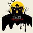 Happy Halloween design background. Vector illustration. — Stock Vector #56853339