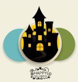 Happy Halloween design background. Vector illustration. — Stock Vector